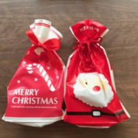 クリスマスラッピングのお菓子。