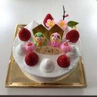 ひな祭りケーキ 2月19日(金)よりご予約を開始いたします。
