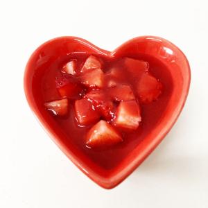ハートの苺クレームブリュレ
